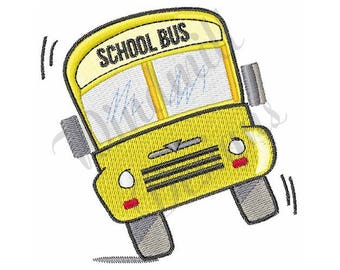 School Bus - Machine Embroidery Design
