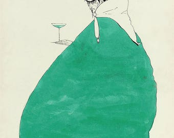 Mephisto ~ Harry Clarke illustration ~ Absinthe ~ Faust by Goethe ~ eerie ~ Goth - Cocktail Culture - mysterious - Mephistopheles