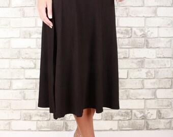 Tea length longer flowing bamboo skirt with elastic waist - Breeze Skirt
