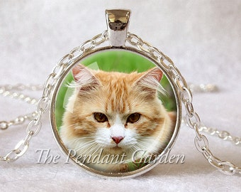 CUSTOM PET PENDANT Personalized Custom Cat Necklace Photo of Your Kitty Lover Gift for Cat Lover Your Pet Photo Pet Memorial Custom Pendant