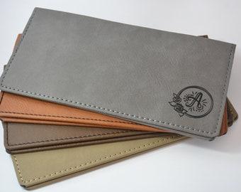 Personalized Checkbook Cover, Vegan Checkbook, Checkbook Wallet, Leatherette Checkbook Cover, Monogrammed Checkbook Cover, Check Book Cover