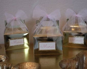 Gold Boxed Party Favors