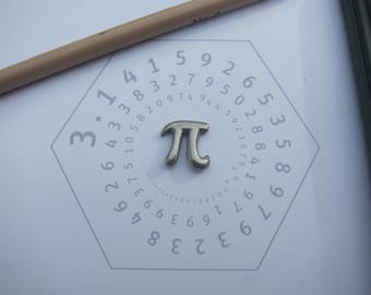 Pi Lapel Pin - CC295- Math Teacher Pins and Gifts