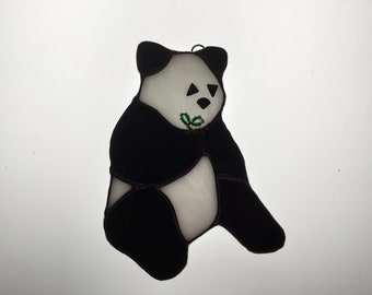 SALE Panda Suncatcher in Stained Glass