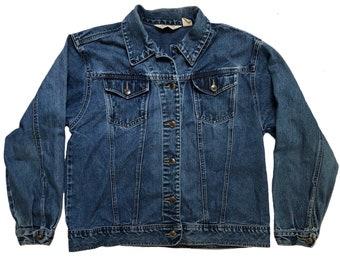 Vintage 90s Denim Jacket by St. John's Bay, Size Large