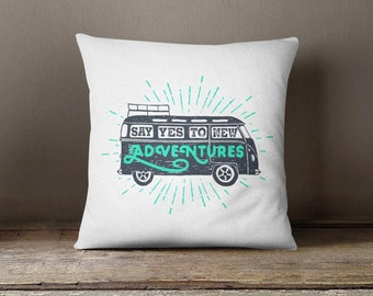 Road trip pillow adventure lover fun throw pillow case glider cushion outdoor decorative pillow modern throw pillow cover patio pillow P224