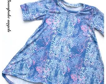 Snake swing dress - swing dress - girls dress - summer dress - kids clothing - summer clothing - kids summer clothing