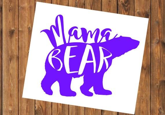 Free Shipping-Mama Bear Decal, Yeti Decal, Momma Bear, Girl Mom, Boy Mom,Mom Sticker, Cooler, Yeti, Laptop Sticker, Mom Decal, Mom Yeti