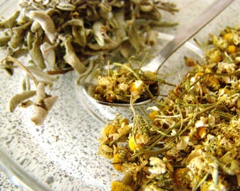 Chamomile&Sage pyramids - 12 or 24 herb pyramids box - dried camomile with sage, Greek herbal tea, handpicked flowers, herb infusion