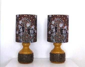 Dancing Spirit Bedside Table Lamps   PAIR   Handmade in Australia