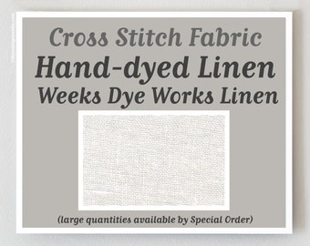 LINEN 32 36 ct. hand-dyed cross stitch fabric linen Weeks Dye Works at thecottageneedle.com hand embroidery