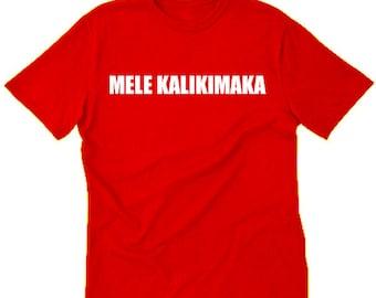 Mele Kalikimaka T-shirt Funny Christmas Hawaiian Hawaii Merry Christmas Tee Shirt