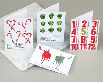 Mixed set of Christmas cards - One