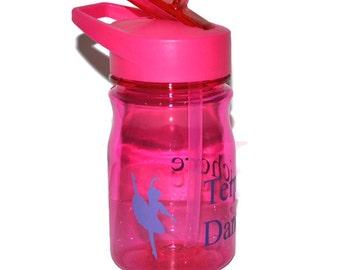 Personalized Kids Tumbler, Pink With A Dancer Design,  Kids Travel Mug, Dance Tumbler, Sports Bottle, Kids Water Bottle BPA Free
