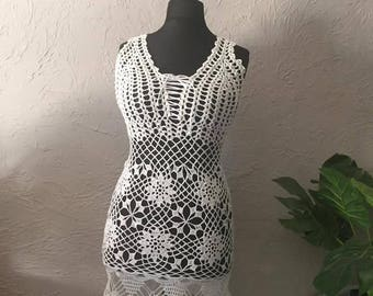 Hand crocheted dress