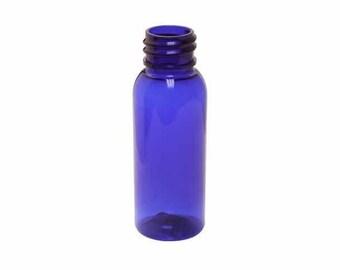 1 oz. Packs of 10 Blue PET Bullet Bottles
