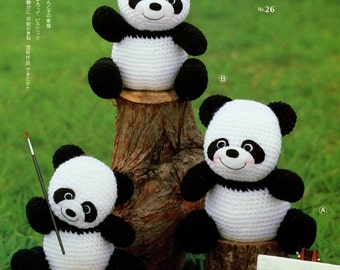 3 Big Amigurumi Panda Crochet Pattern PDF