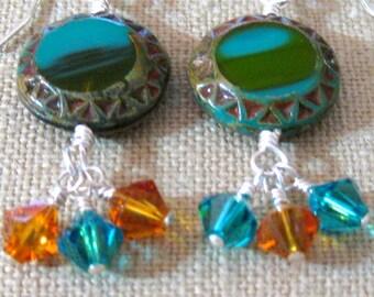 Santa Fe Cluster Dangle Earrings - E795