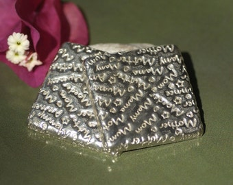 Textured Nickel Silver Bezel Cups 24g 34mm Square Blanks Cutout for Jewelry Making