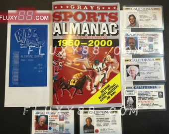 GRAYS SPORTS ALMANAC - Custom Book & (6) dl props from Back to the Future!