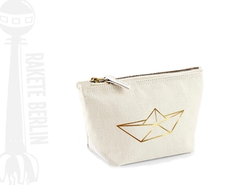 cosmetic bag small 'origami ship'