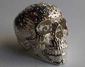 Skull Sculpture Crania Anatomica Filigre (sterling silver)