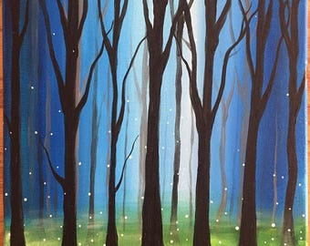 The Enchanted Forest 12x12 Original Acrylic Fairytale Painting