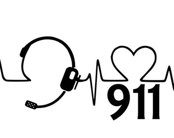 911 dispatcher headset and heartbeat