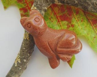 Gold River, gold, Brown, cat, kitten, decoration, figure, sculpture, art, gem, animals, gift, present