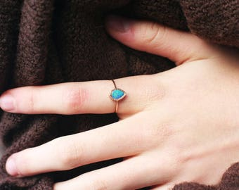 Opal Ring, 14k Gold ring, Opal Jewelry, Gemstone ring, October birthstone, Birthstone jewelry, Birthstone ring, Gift for her