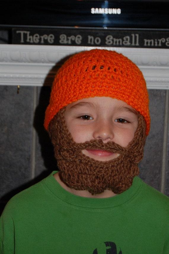 Camping Birthday, Camo Birthday, Lumberjack Birthday, Boys Beard Beanie, Beard Hat for Kids, Halloween Costume, Father Son Matching Outfit