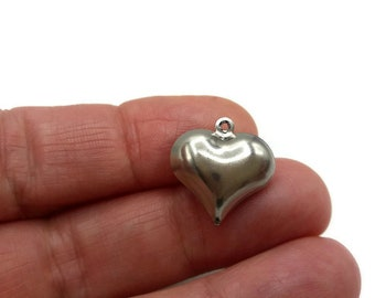 20 charms - Charms - stainless steel heart - A382 hearts