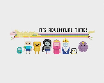 Adventure Time Cross Stitch Pattern PDF Instant Download