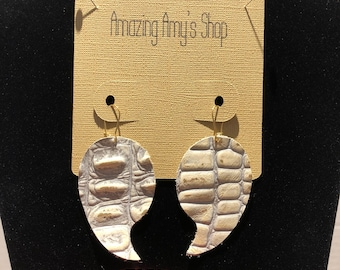 Genuine leather earrings*** free shipping's