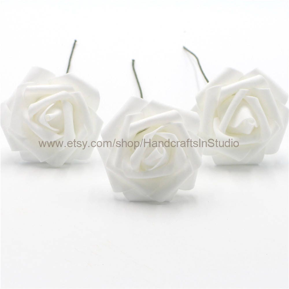White flowers foam roses artificial white flowers 100 stems for 2899 mightylinksfo Images
