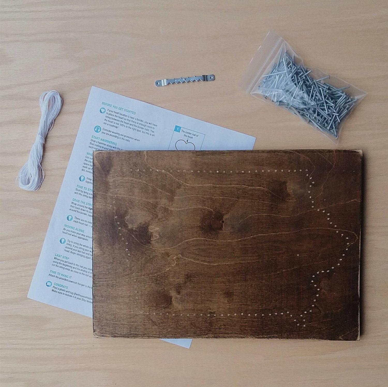DIY Iowa String Art Kit, State string Art kit, Iowa Nail Art, Rustic ...