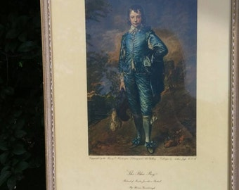 "On Sale Collectible ""The Blue Boy"" Portrait of Master Jonathan Buttal Picture or Wall Hanging By Thomas Gainborough"