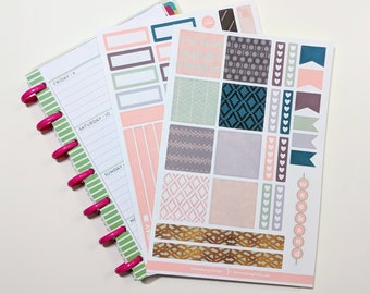 Alicia Spring Collection - Kit Mini Planner heureux - Planner Stickers