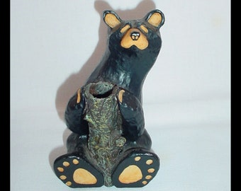 BearFoots by Jeff Fleming Bear with Log 1990s
