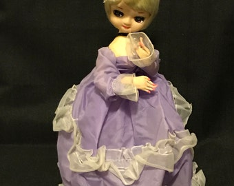 Vintage Doll Bradley 1960's Big Eyed Boudoir Southern Belle Retro Doll Kitschy SALE PRICE was 20.00 now 14.99