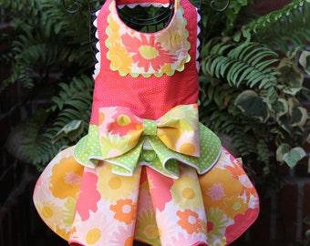 SPRING:  Burst of Spring Blooms Dog Dress