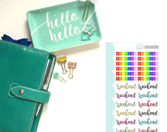 Weekend Banner/Words Personal Sized Insert Planner, Penpal and Journalling Stickers