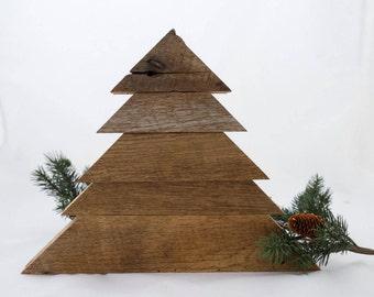 100 year old Barn Wood Christmas Tree - Rustic Christmas Trees - Reclaimed Wood - Wooden - Christmas Decor - Wood - Wooden Tree Cyber Week