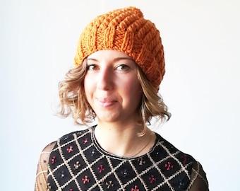 Knit hat women hat wool hat pom pom hat knit hats