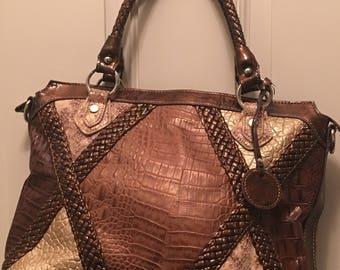 Large Madi Claire Brown Tote Bag.