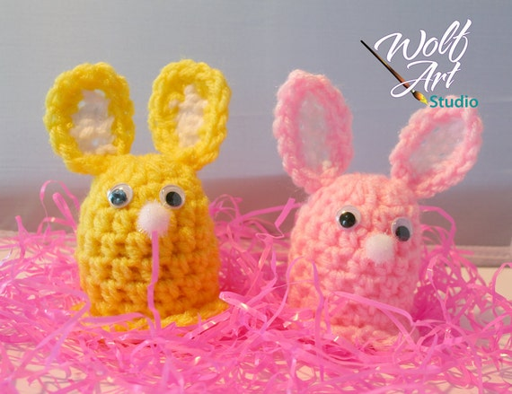 Yellow/Pink Bunny Egg Cozy