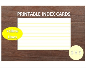 3x5 printable index cards