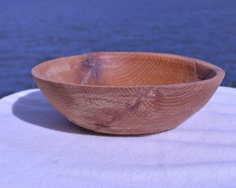 Reclaimed Rustic wooden hand turned bowl