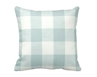 Blue Pillow Covers Blue Cushion Covers Trellis Pillows Decorative Pillows for Couch Blue Throw Pillow Covers Euro Pillows Plaid Pillows