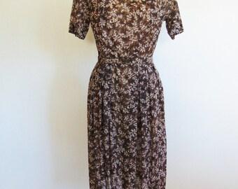 60s nylon day dress with matching jacket size medium/large